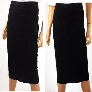 Liz Claiborne Black Stretch Knit Maxi Skirt - Sz L